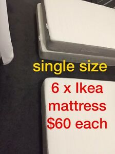 6 Ikea Single mattresses for SALE, excellent condition Melbourne CBD Melbourne City Preview