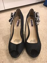Black Wedge Heels with Detail Duncraig Joondalup Area Preview