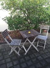 Wooden outdoor table set Applecross Melville Area Preview