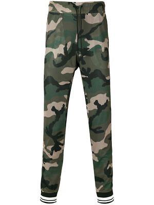 VALENTINO Ccamouflage Mesh Track Street Style Pants