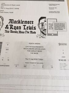 Macklemore & Ryan Lewis tickets - Perth Spearwood Cockburn Area Preview