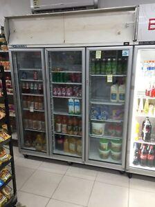 quirk's 3 door display shop fridge Lakemba Canterbury Area Preview