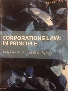 Corporations law: in principle 9th edition Casula Liverpool Area Preview