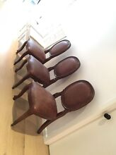 Dark Tan leather Louis chairs  x3 Avalon Pittwater Area Preview