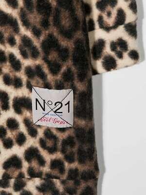 NWT Nº21 Kids Leopard-Print Classic Hooded Dress Logo Patch Size 16 $296
