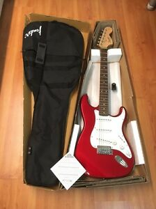 Squier Fender Strat Electric Guitar as Brand NEW Carlton Melbourne City Preview