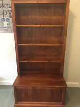Solid wooden bookshelf with blanket box Ringwood East Maroondah Area Preview