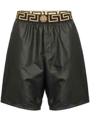 VERSACE New Iconic Greco Long Swim Shorts Black Size IT 3