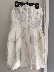 Zimmerman size 2 white and silver dress Surrey Hills Boroondara Area Preview