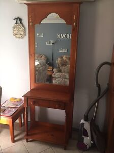 Wooden mirror hall stand Camden Camden Area Preview
