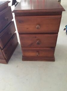 X2 solid bed side tables both for $70 Bexley Rockdale Area Preview