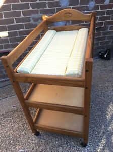 Cabin crib solid wood change table with mat Epping Ryde Area Preview