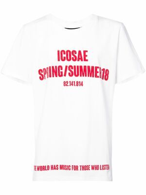 SOLD OUT ICOSAE Spring/Summer 18 Collection Short Sleeve White Tee Shirt Size L