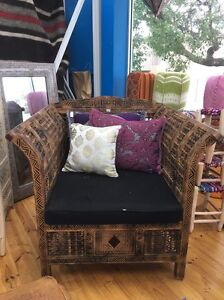 Deep Moroccan Armchair Handcarved Brighton East Bayside Area Preview