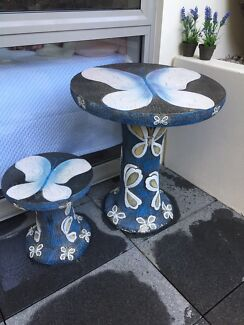 Butterfly Garden Table And Stool