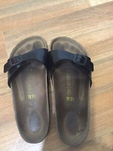 Birkenstocks Madrid Black Patent AU size 9 Euro size 40 Cairns North Cairns City Preview