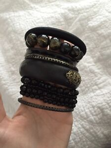 Bulk black bracelets bangles Newcastle Newcastle Area Preview