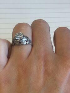 Antique Handmade Diamond Engagement Ring 0.96 carat North Sydney North Sydney Area Preview