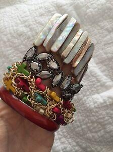 Bulk bangles bracelets colourful shell cross red Newcastle Newcastle Area Preview