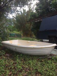 7ft Fibreglass Boat with oars Mount Mellum Caloundra Area Preview