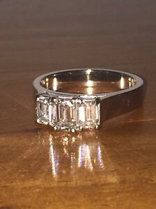 18K WHITE GOLD HANDMADE 1.25CT DIAMOND RING VALUED AT $12,900 Princes Hill Melbourne City Preview
