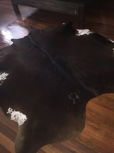 Authentic Cow Hide dark brown with white Bundall Gold Coast City Preview