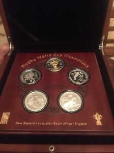 Rugby World Cup Champions Coin Set Thornlands Redland Area Preview