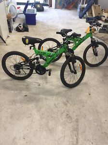 2 kids mountain bikes Kawasaki $60 each or both for $100 Orange Orange Area Preview