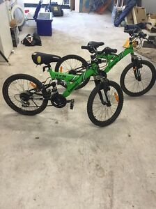 2 kids mountain bikes Kawasaki $60 each or both for $100 Hunterview Singleton Area Preview