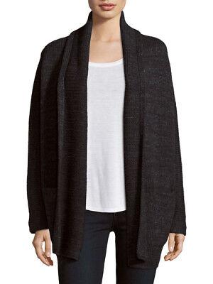 Vince Black Wool Drape Front Cardigan Sweater (Vince Drape)