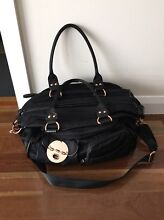 Great cond - MIMCO BABY BAG - Lucid NAPPY BAG BLACK Rose gold-Freepost Dingley Village Kingston Area Preview