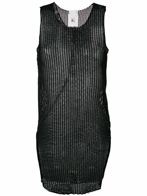 LOST AND FOUND ROOMS RIA DUNN BLACK JERSEY MESH TANK TOP XS BNWT ITALY $300