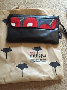 Leather Purse/Small Shoulder Bag - Red Mulga Distinctive Designs Mundaring Mundaring Area Preview