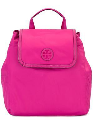 NWT Tory Burch - Scout Nylon Small Backpack  Hibiscus Flower  pink