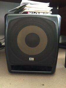"Krk rokit 8"" x2 , krk 12s sub + 2 speaker stands Newcastle Newcastle Area Preview"