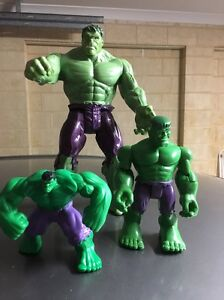 Incredible Hulk figurines.as new Redcliffe Belmont Area Preview