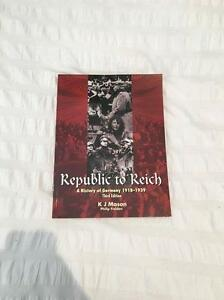 Republic to Reich. A History of Germany******1939 Wembley Downs Stirling Area Preview