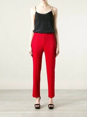 issey miyake pleats please red trousers Size 5