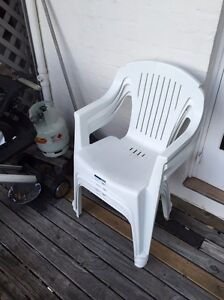 White plastic chairs Paddington Eastern Suburbs Preview