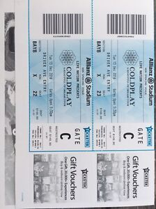 Coldplay 2 Gold seat ticket Canterbury Canterbury Area Preview
