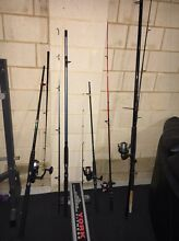Fishing rods and small tackle box Butler Wanneroo Area Preview