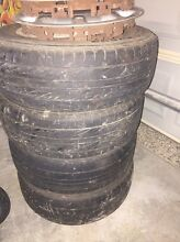 4x100 rims with near new tyres Astra Burpengary Caboolture Area Preview