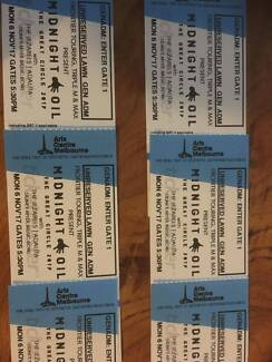 Midnight Oil Sydney Myer Music Bowl Melbourne 6x Tickets