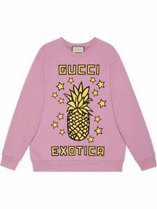 Genuine Gucci Exotica pineapple Print sweatshirt Small $1400 EUC