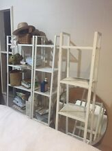 Three white metal shelves North Narrabeen Pittwater Area Preview
