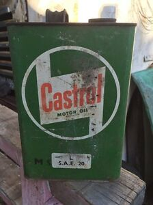 Castrol Motor Oil Gallon Tin Gulliver Townsville City Preview