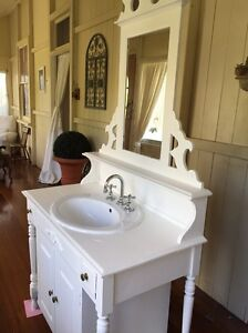 Bathroom vanity/ washstand French shabby chic style Beaudesert Ipswich South Preview