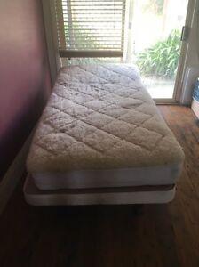 King single electric bed on wheels plega mattress mini jumbuck overlay Nyora South Gippsland Preview