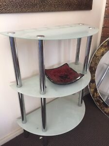 Frosted glass shelf stand Wetherill Park Fairfield Area Preview