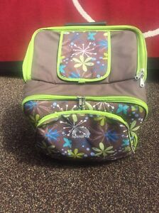 Spinifex picnic trolley bag brown and green $65 St Clair Penrith Area Preview